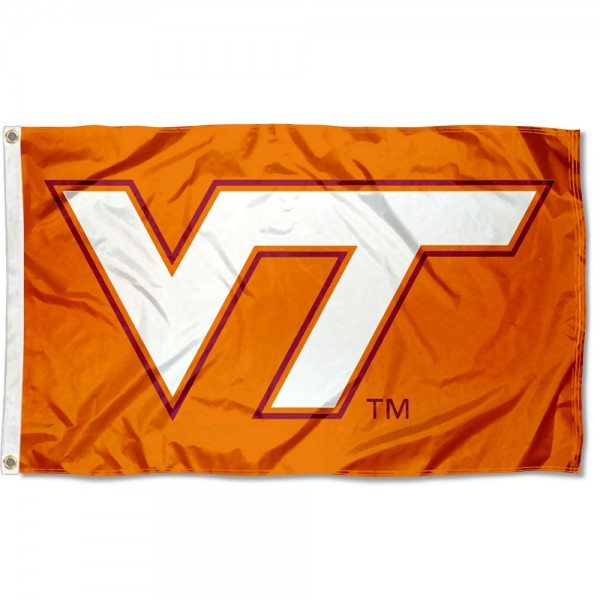 VA Tech Hokies Burnt Orange 3x5 Foot Flag