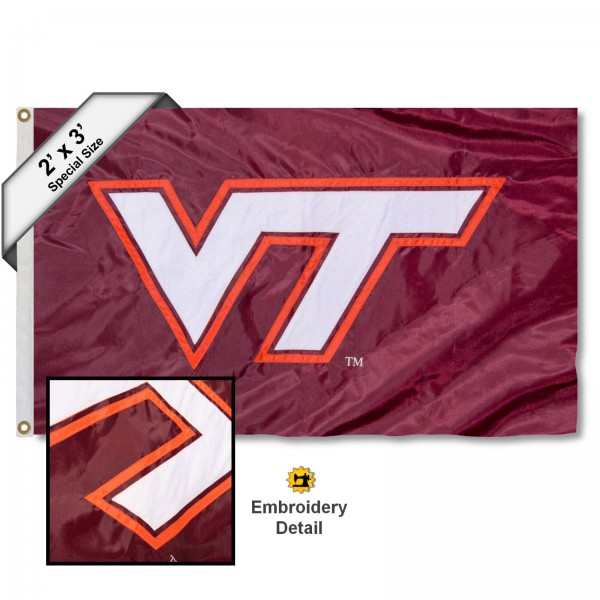 VA Tech Hokies Embroidered 2x3 Foot Flag