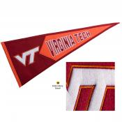 VA Tech Hokies Embroidered Wool Pennant