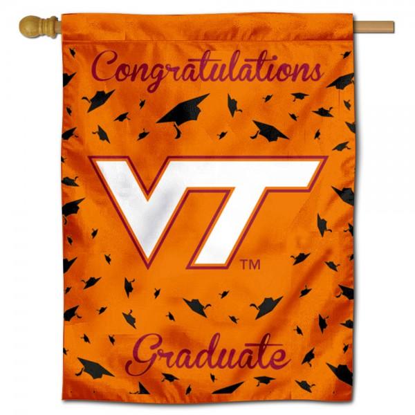 VA Tech Hokies Graduation Banner