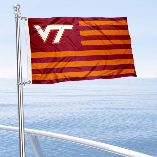 Va Tech Hokies Nation Boat Nautical Flag