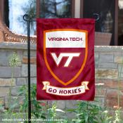 VA Tech Hokies Shield Garden Flag