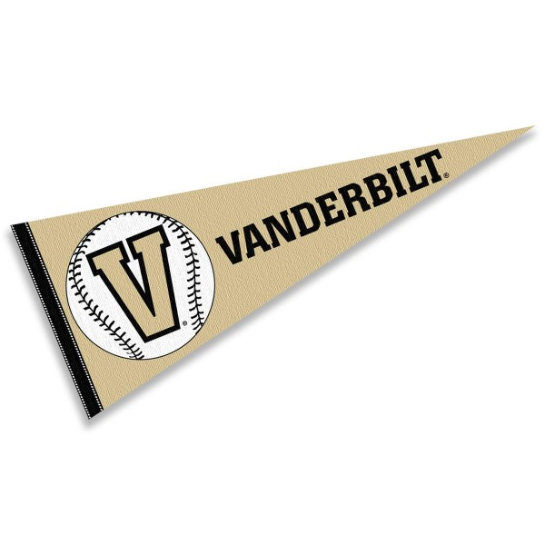 Vanderbilt Commodores Baseball College Pennant