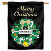 Vanderbilt Commodores Christmas Holiday House Flag