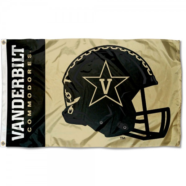 Vanderbilt Commodores Helmet Flag
