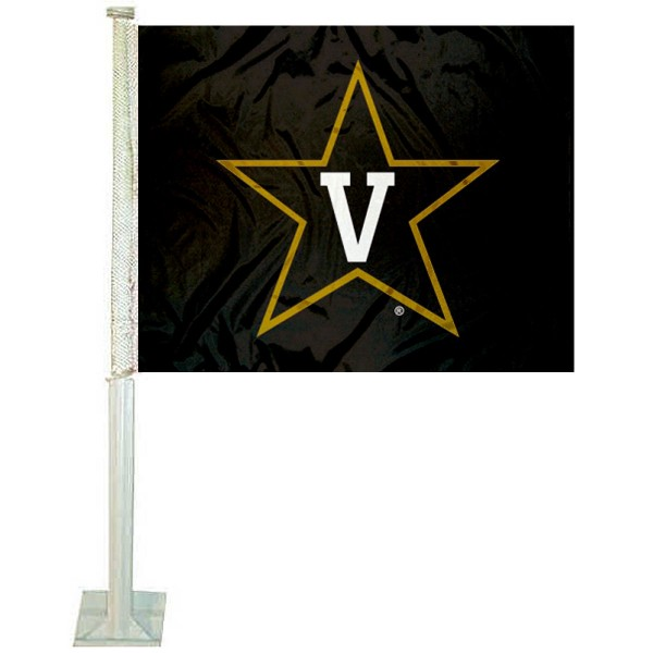 Vanderbilt Commodores Star Logo Car Flag