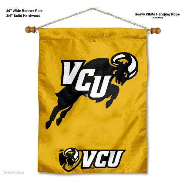 VCU Rams Banner with Pole