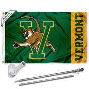 Vermont Catamounts Flag and Bracket Flagpole Kit
