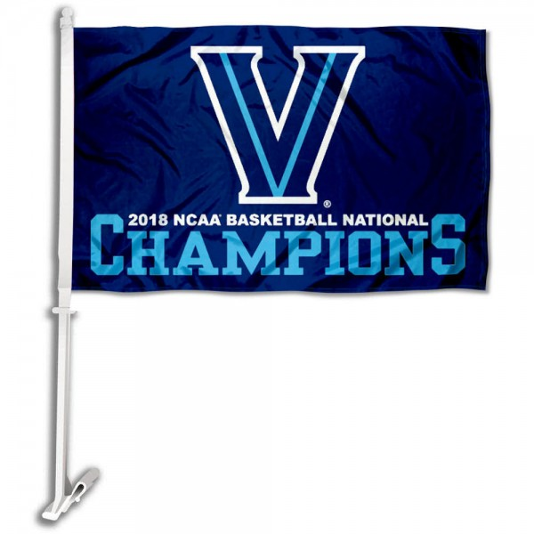 Villanova University National Champions 2018 Car Flag