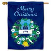 Villanova Wildcats Christmas Holiday House Flag