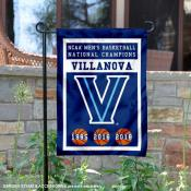 Villanova Wildcats Three Time National Champions Garden Banner