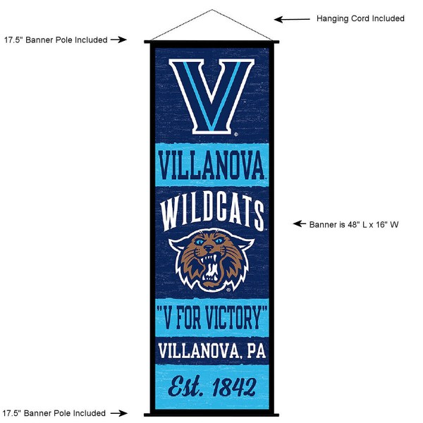 Villanova Wildcats Wall Banner and Door Scroll