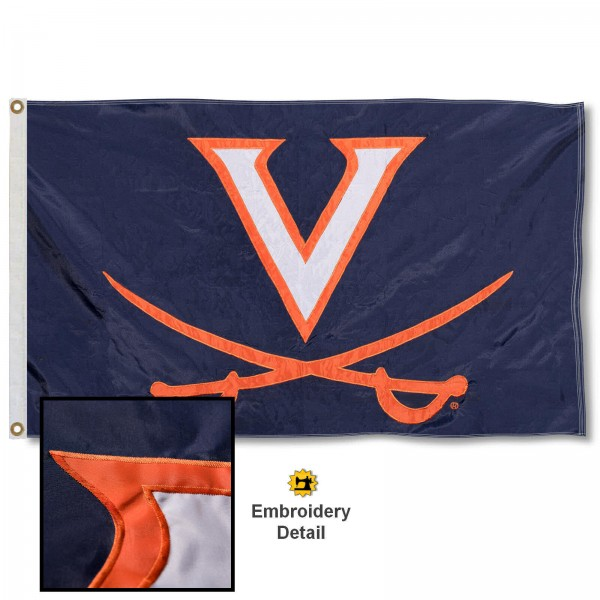 Virginia Cavaliers Appliqued Nylon Flag