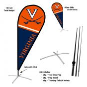 Virginia Cavaliers Teardrop Flag and Stand Kit