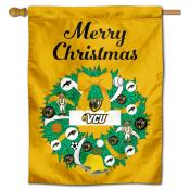 Virginia Commonwealth Rams Christmas Holiday House Flag
