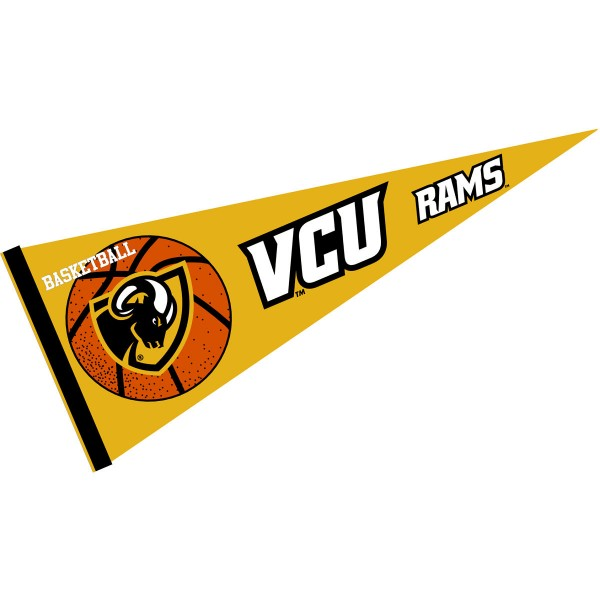 Virginia Commonwealth University Rams Basketball Pennant