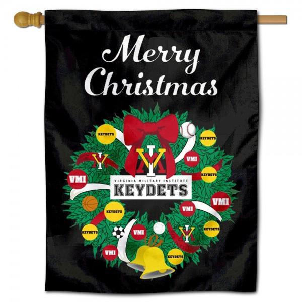 Virginia Military Keydets Christmas Holiday House Flag
