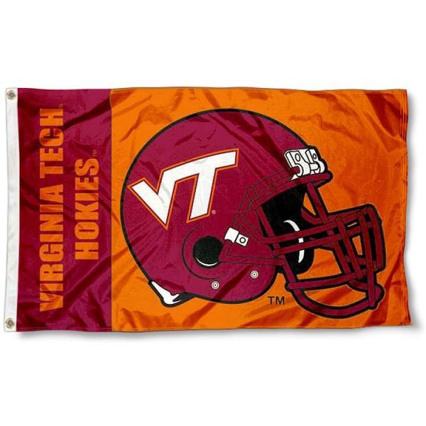Virginia Tech Hokies Football Helmet Flag