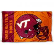 Virginia Tech Hokies Football Helmet Flag