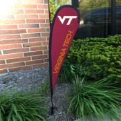 Virginia Tech Hokies Mini Teardrop Garden Flag