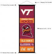 Virginia Tech Hokies Wall Banner and Door Scroll