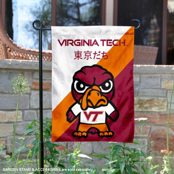 Virginia Tech Hokies Yuru Chara Tokyo Dachi Garden Flag