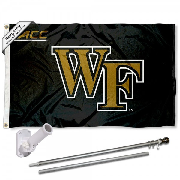 Wake Forest ACC Conference Flag and Bracket Flagpole Set