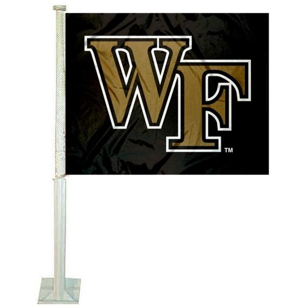 Wake Forest Black Car Flag