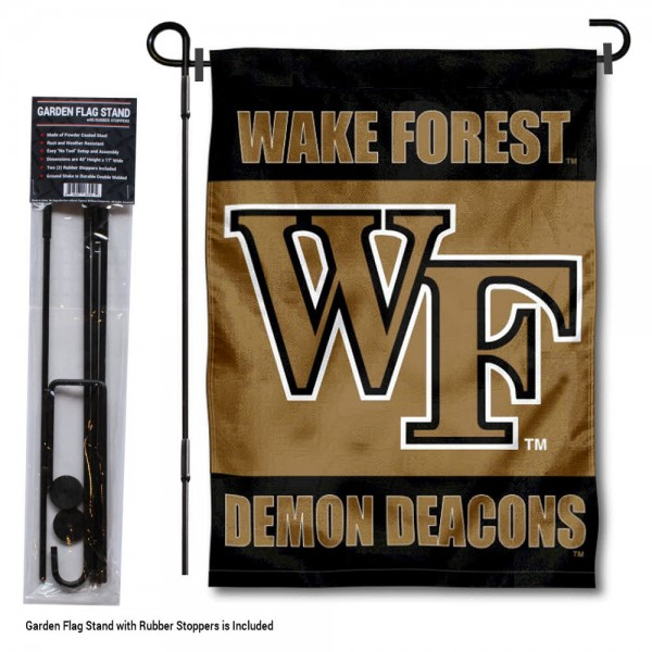 Wake Forest Demon Deacons Garden Flag and Holder