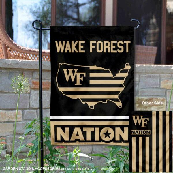 Wake Forest Demon Deacons Nation Garden Flag