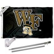 Wake Forest Flag and Bracket Mount Flagpole Set