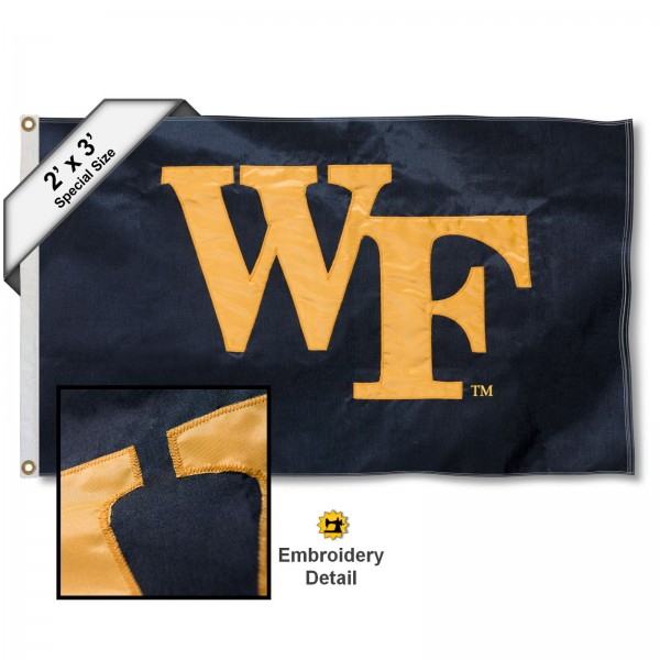 Wake Forest WF 2x3 Flag