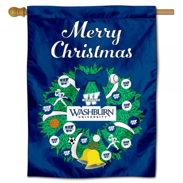 Washburn Ichabods Christmas Holiday House Flag