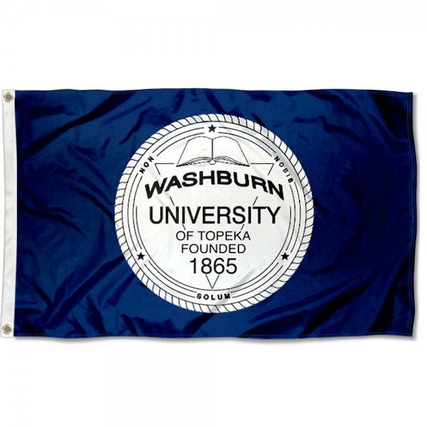 Washburn Ichabods University Seal Flag
