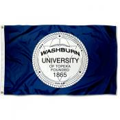 Washburn Ichabods University Seal Flag