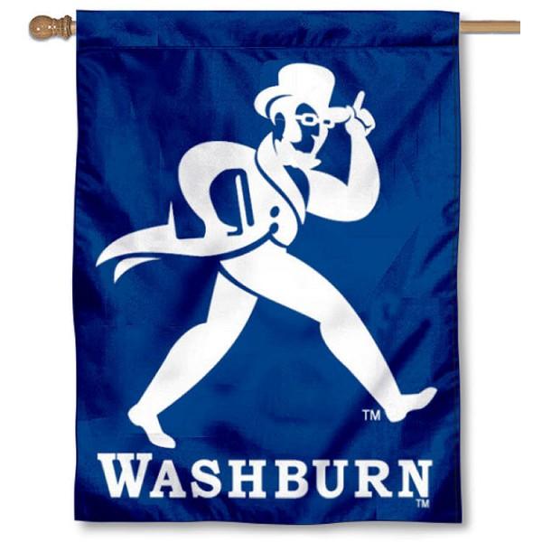 Washburn University Ichabods House Flag