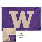 Washington Huskies Appliqued Nylon Flag