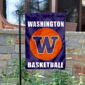 Washington Huskies Basketball Garden Flag