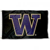 Washington Huskies Black Flag