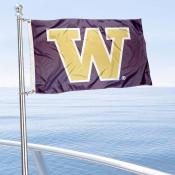 Washington Huskies Boat Flag