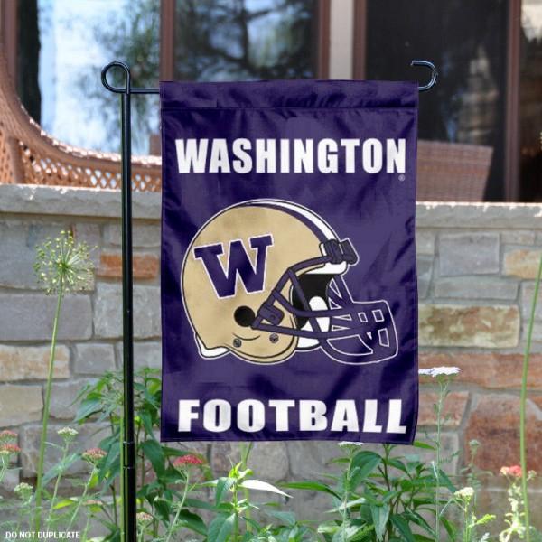 Washington Huskies Football Garden Flag