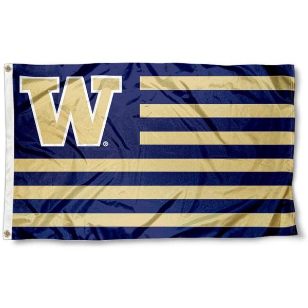 Washington Huskies Nation Flag