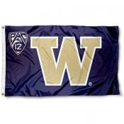 Washington Huskies Pac 12 Flag