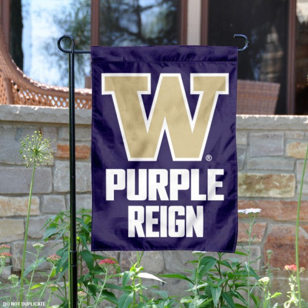 Washington Huskies Purple Reign Garden Flag
