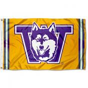 Washington Huskies Retro Vintage 3x5 Feet Banner Flag