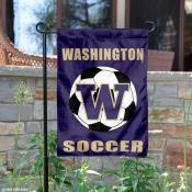 Washington Huskies Soccer Garden Flag