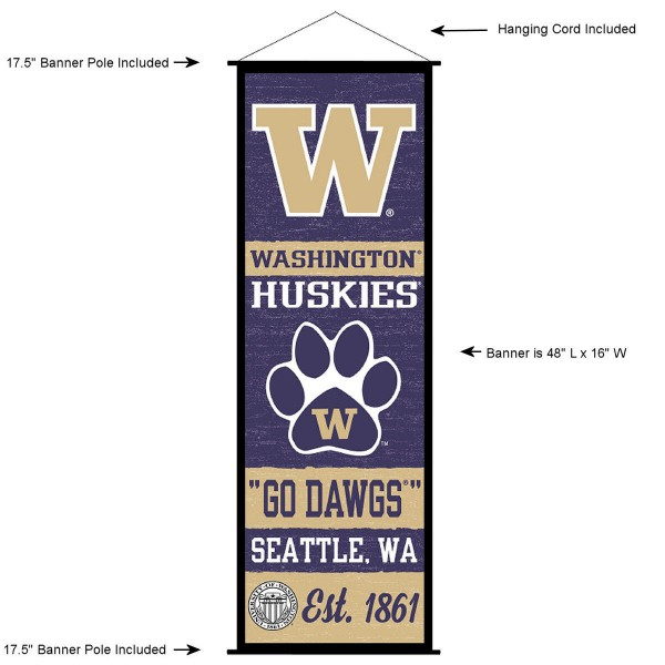 Washington Huskies Wall Banner and Door Scroll