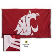 Washington State Cougars Appliqued Nylon Flag