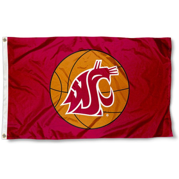 Washington State Cougars Basketball Flag