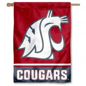 Washington State Cougars Double Sided House Banner Flag